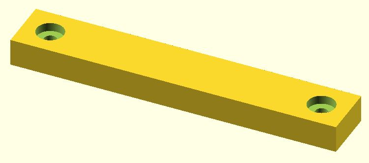 Rectangular step removed